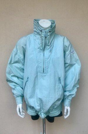 Vintage Oversized Jacket turquoise nylon