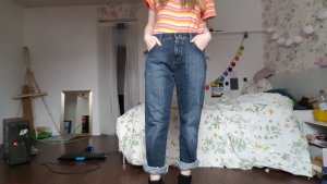 True Vintage Wrangler High Waist Mom Jeans Boyfriend Hose