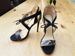 Truffle Collection High Heels Sandaletten Kroko Schlangen Muster  Gr.39/40