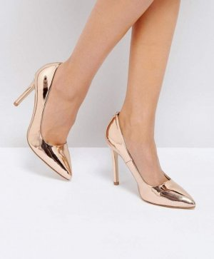 Truffle Collection Pumps Rose gold high heels