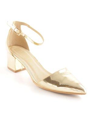 Truffle Collection Riemchen-Sandaletten goldfarben Lack-Optik