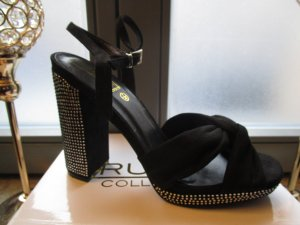 Truffle Collection Platform High-Heeled Sandal black-silver-colored