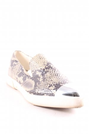 Truffle Collection Slipper hellbraun-anthrazit Reptil-Optik