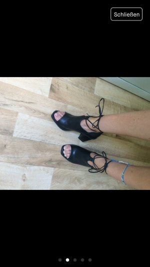 Truffle Collection Hoge hakken sandalen zwart Imitatie leer