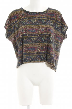 Truly Madly Deeply Cropped Shirt Allover-Druck Ethno-Look