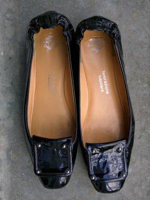 Truman's Ballerines en cuir verni noir cuir