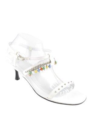 Truman's Riemchen-Sandaletten weiß-silberfarben extravaganter Stil