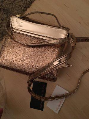 Trussadi Jeans Handtaschen Umhängetasche Rose Gold clutch Kelly bag Mini