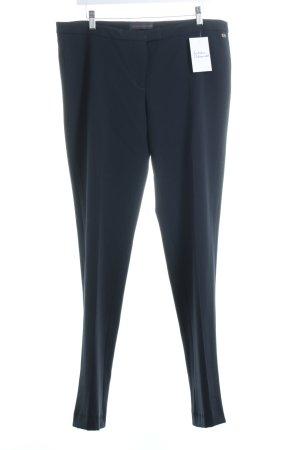 Trussardi Bundfaltenhose dunkelblau klassischer Stil