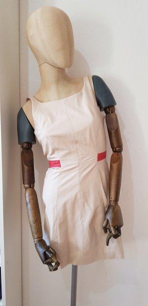 Trussardi Leather Dress oatmeal-red
