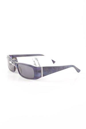 Trussardi eckige Sonnenbrille blau schlichter Stil