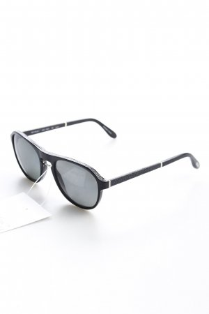 Trussardi eckige Sonnenbrille schwarz klassischer Stil