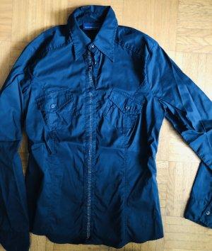 Trussardi Jeans Shirt met lange mouwen donkerblauw