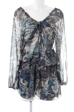 Trussardi Jeans Blusenkleid Ornamentenmuster Boho-Look