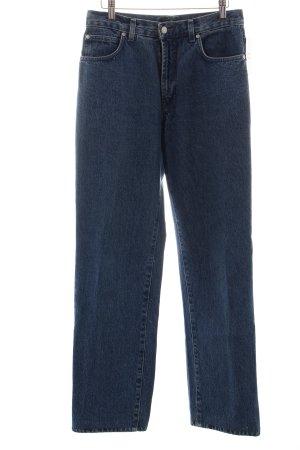 Trussardi Jeans Boyfriendjeans blau Street-Fashion-Look