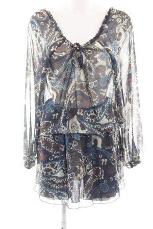 Trussardi Jeans Chiffonkleid Ornamentenmuster Casual-Look