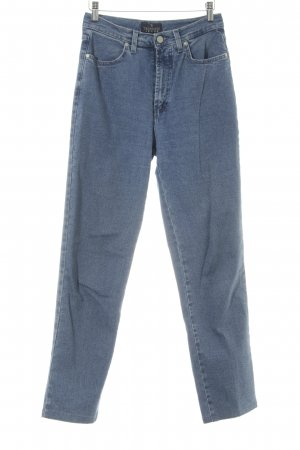 Trussardi Jeans Hoge taille jeans staalblauw casual uitstraling