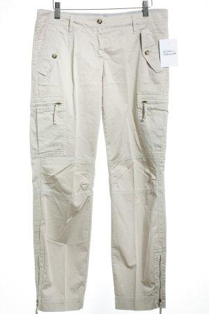 Trussardi Jeans Hüfthose beige sportlicher Stil