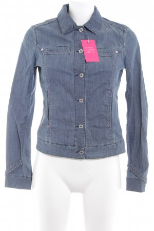 Trussardi Jeans Denim Blazer steel blue jeans look