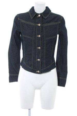 Trussardi Jeans Jeansjacke dunkelblau Casual-Look