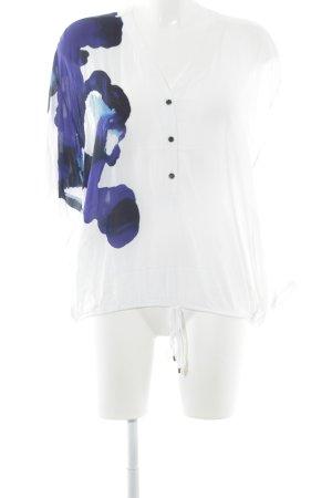 Trussardi Jeans Langarm-Bluse mehrfarbig 90ies-Stil