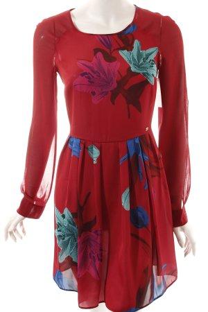 Trussardi Jeans Langarmkleid florales Muster Casual-Look