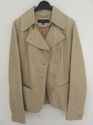 Trussardi Jeans Leather Blazer oatmeal leather