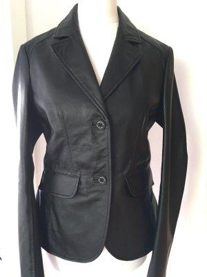 Trussardi Jeans Blazer en cuir noir