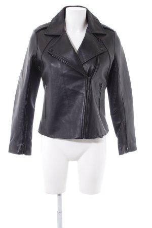 Trussardi Jeans Lederjacke schwarz klassischer Stil