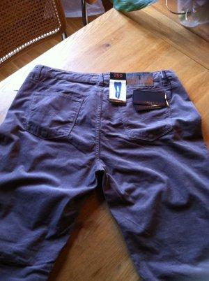 Trussardi Jeans Pantalon en velours côtelé taupe coton