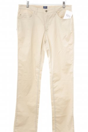 Trussardi Jeans Linen Pants cream casual look