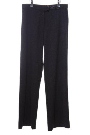 Trussardi Jeans Broek met wijd uitlopende pijpen zwart zakelijke stijl