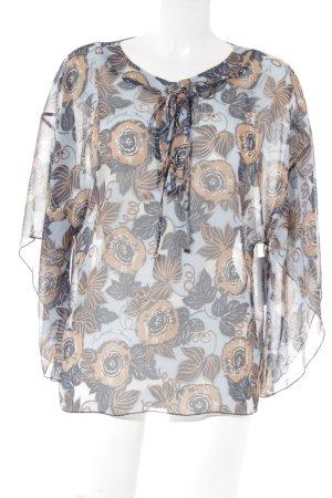 Trussardi Jeans Schlupf-Bluse florales Muster Beach-Look