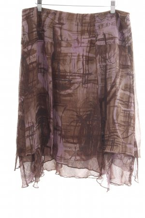 Trussardi Jeans Silk Skirt bronze-colored-lilac abstract pattern