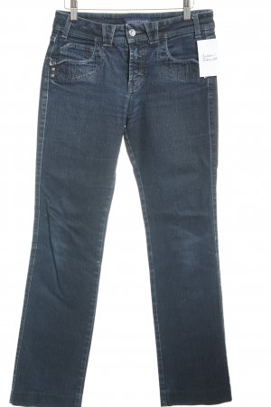 Trussardi Jeans Slim Jeans dunkelblau Street-Fashion-Look
