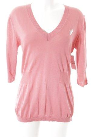 Trussardi Jeans Strickpullover rosa Casual-Look
