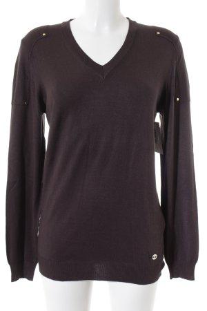 Trussardi Jeans V-Ausschnitt-Pullover braun Casual-Look
