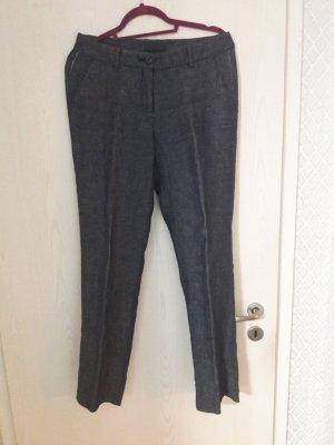 Tru Trussardi Pantalón de lino azul oscuro