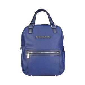 Trussardi Jeans Mochila para portátiles azul-azul oscuro Imitación de cuero