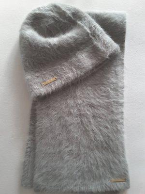 Trussardi Set aus Mütze und Schal, angora, grau