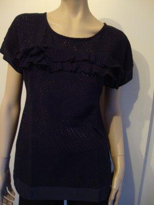Trussardi Shirt 100% Original mit Seide dunkelblau Gr. 34 1x getragen WIE NEU!!!