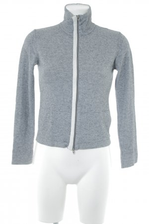 Trussardi Shirt Jacket grey-natural white flecked athletic style