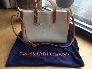 Trussardi Jeans Carry Bag cognac-coloured-cream leather