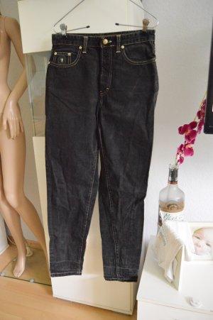 Trussardi vintage Jeans schwarz gold