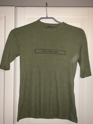 Pieces Ribbed Shirt green grey