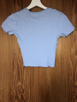 Pull & Bear Cropped Shirt azure