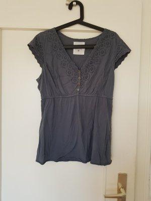 H&M L.O.G.G. T-shirt col en V gris ardoise