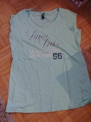 Camiseta azul claro-turquesa