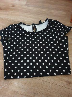 Amisu Shirt wit-zwart