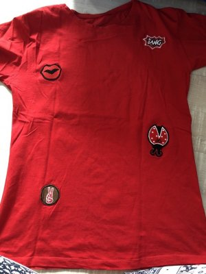 Camisa larga rojo